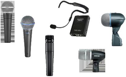 hyra mikrofoner Shure