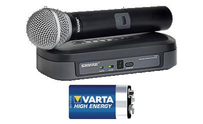 hyra trådlos SHURE-mikrofon PG2